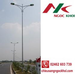 Cột đèn cao áp bát giác 9m cần đôi B04