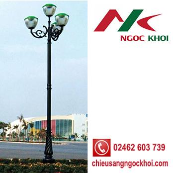 Trụ đèn sân vườn DC07 lắp đèn TULIP