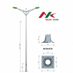 Cột đèn cao áp 10m rời cần đôi kiểu B03