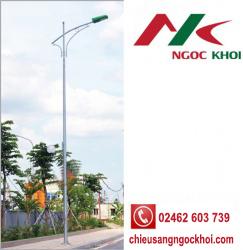 Cột thép bát giác 9m cần đơn B04 - đèn cao áp NK16