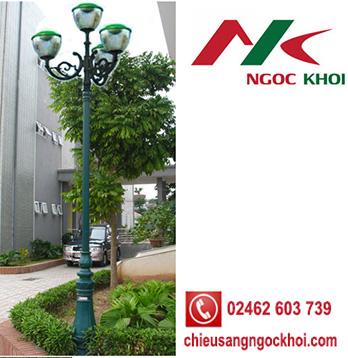 Cột trang trí sân vườn DC06 lắp đèn Tulip